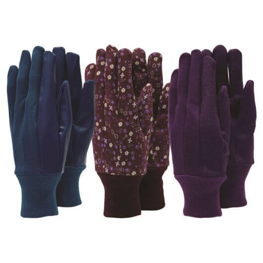 Town & Country Ladies Gardening Gloves - 3 Pair Pack