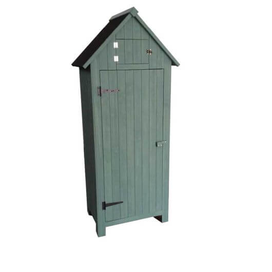 Wooden Tool Shed Duck Egg Blue