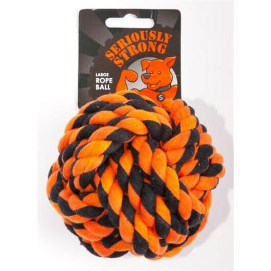 Petface Seriously Strong Rope Ball - Large