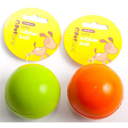 Petface Solid Rubber Ball 2.5 inch