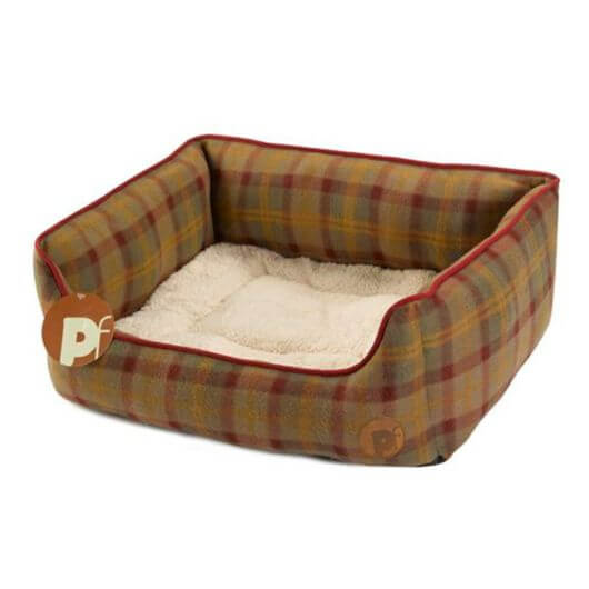 Petface Country Check Square Bed - Large