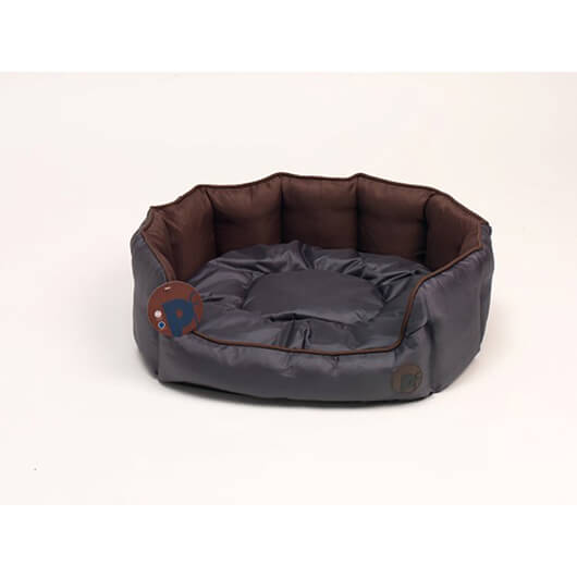 Petface Oxford Oval Medium Chocolate Bed