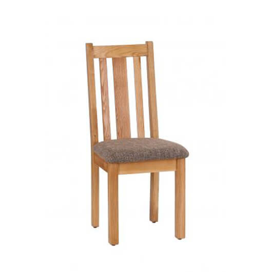 Vancouver Dining Chair Vertical Slats with Mocha Fabric (NB043F)
