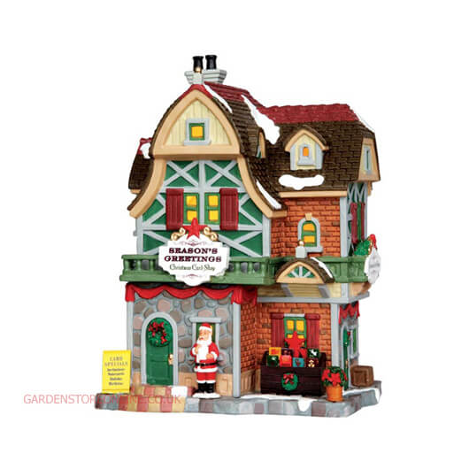 Lemax Season's Greetings Christmas Card Shop (35507)