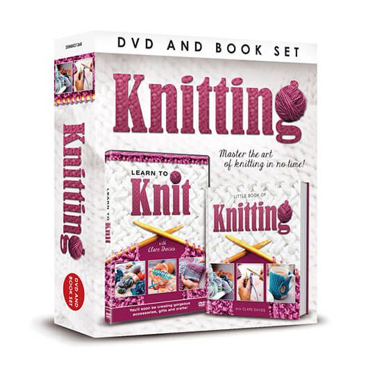 Learn To Knit DVD & Book Set