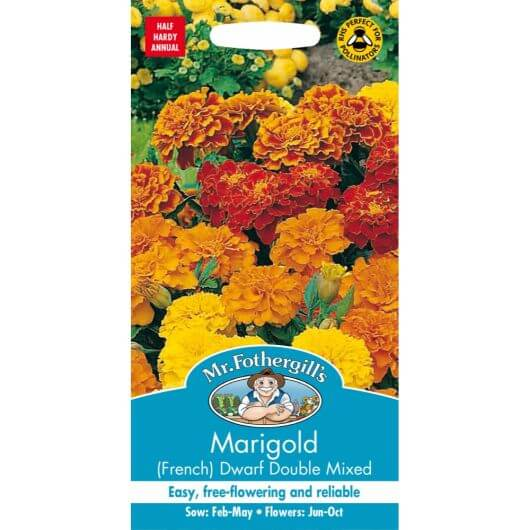 Marigold (French) Dwarf Double Mixed MF Seeds