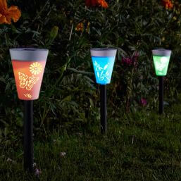 Smart Solar Silhouette Stake Light Carry Pack of 6
