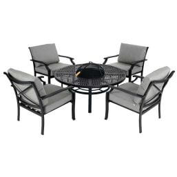 Hartman Jamie Oliver Fire Pit Set - Riven/Pewter