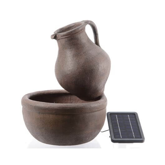 Solar Jug and Bowl Fountain