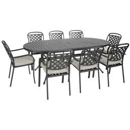 Hartman Berkeley 8 Seater Set (Midnight/Shadow)