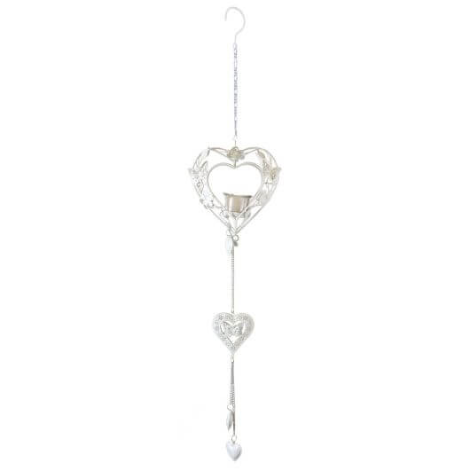 Fountasia Hanging Heart - White
