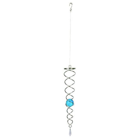 "Fountasia Crystal Vortex Hanging Ornament - 12"" Aqua"