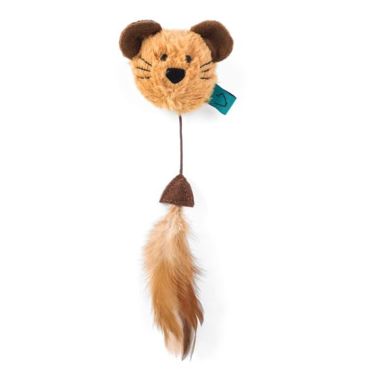 Zoon Nip-It Catnip Mouse Head & Feather