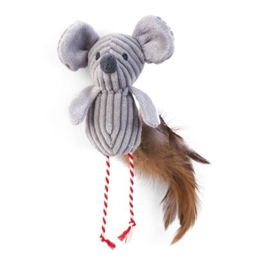 Zoon Nip-It Catnip Cord Mouse & Feathers